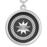 Ringstone Symbol Round Pendant Necklace