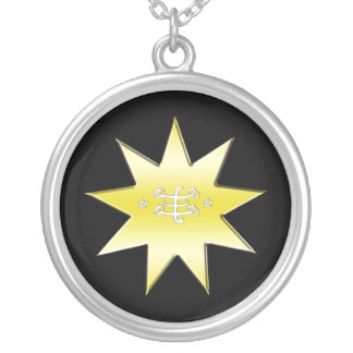 Ringstone Symbol Silver Plated Necklace