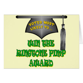 Ringtone Pimp Award Card