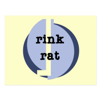 Rink Rat Tshirts and Gifts Postcards