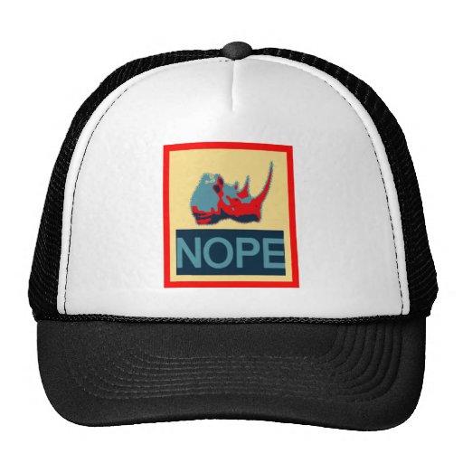 RINO NOPE POSTER TRUCKER HAT