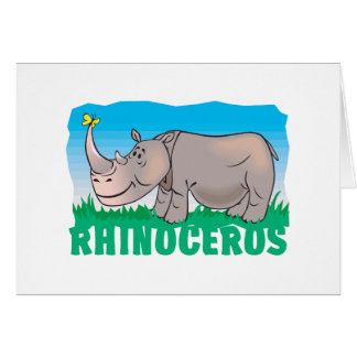 Rinoceronte amistoso del niño tarjeta
