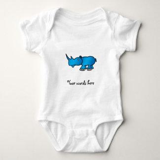 Rinoceronte azul body para bebé