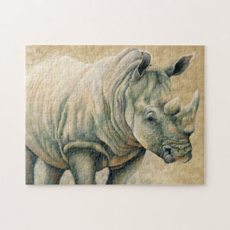 Rinoceronte azul puzzle