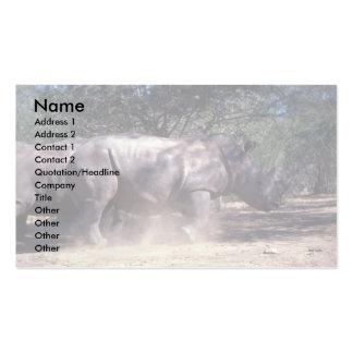 Rinoceronte blanco tarjeta de negocio