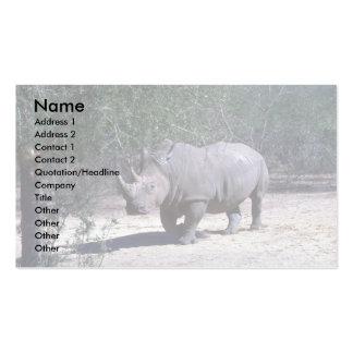 Rinoceronte blanco plantillas de tarjeta de negocio