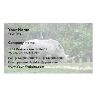 Rinoceronte blanco plantilla de tarjeta de negocio