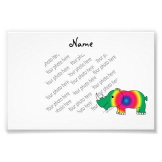 Rinoceronte brillante verde conocido personalizado fotos