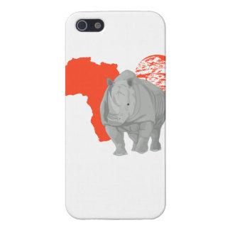 Rinoceronte de África iPhone 5 Fundas