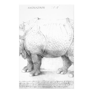 Rinoceronte de Albrecht Durer Papelería