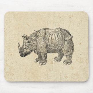 Rinoceronte de Durer del vintage Alfombrillas De Raton