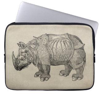 Rinoceronte de Durer del vintage Funda Portátil