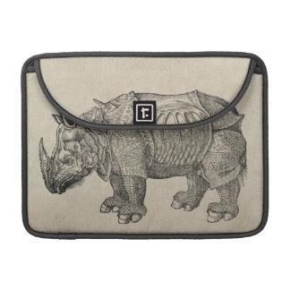 Rinoceronte de Durer del vintage Fundas Para Macbooks