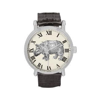 Rinoceronte de Durer del vintage Reloj