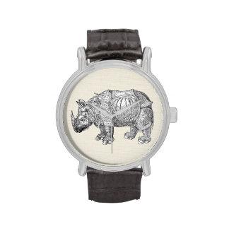 Rinoceronte de Durer Reloj De Mano