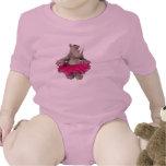 Rinoceronte de la niña camiseta