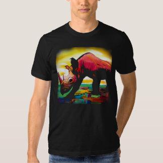 Rinoceronte de la parte, mariposa de la parte playeras