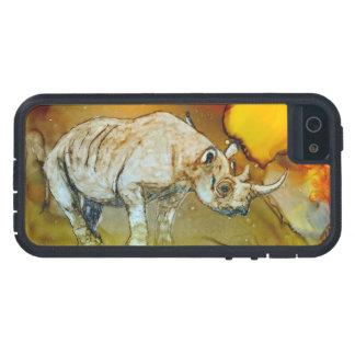 Rinoceronte de la puesta del sol iPhone 5 fundas