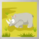 Rinoceronte de mi serie de los animales del mundo impresiones