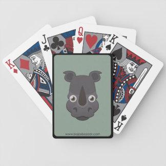 Rinoceronte de papel barajas de cartas
