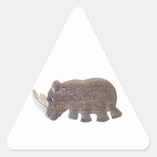 Rinoceronte de Ronald Pegatinas De Triangulo Personalizadas
