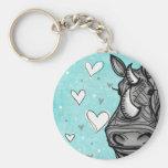 rinoceronte del amor llaveros personalizados