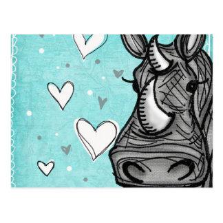 rinoceronte del amor postal