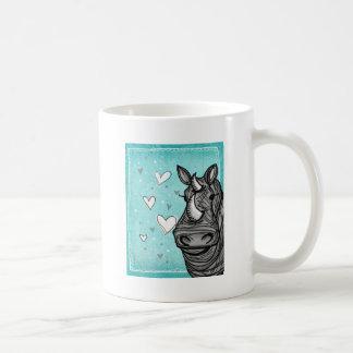 rinoceronte del amor taza clásica
