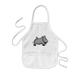 Rinoceronte del bebé delantal