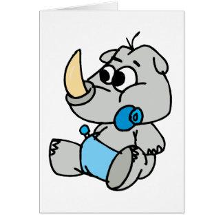 Rinoceronte del bebé tarjeta de felicitación