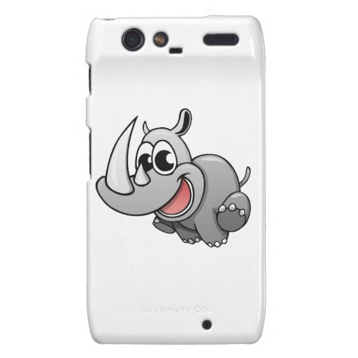 Rinoceronte del dibujo animado droid RAZR fundas
