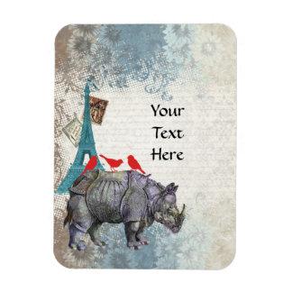 Rinoceronte del vintage imanes flexibles