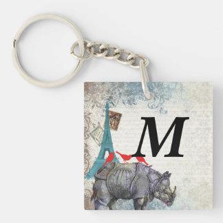 Rinoceronte del vintage llavero