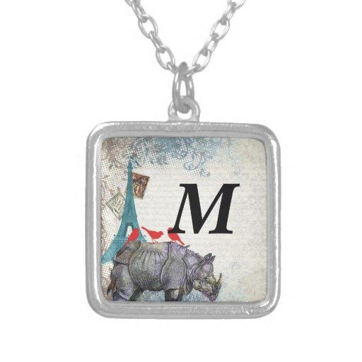Rinoceronte del vintage pendiente personalizado
