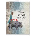 Rinoceronte del vintage tarjeta de felicitación