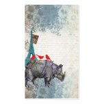 Rinoceronte del vintage tarjetas de visita