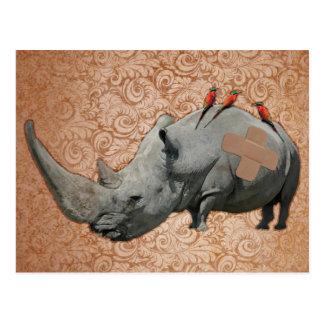 Rinoceronte dirigido grande postales