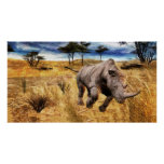 Rinoceronte en Serengeti Impresiones