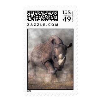 Rinoceronte enojado sellos
