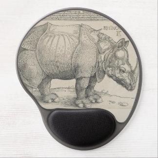 Rinoceronte, grabar en madera de Albrecht Durer Alfombrilla Con Gel
