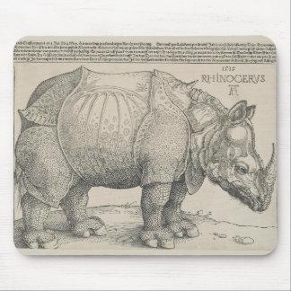 Rinoceronte, grabar en madera de Albrecht Durer Alfombrillas De Ratón