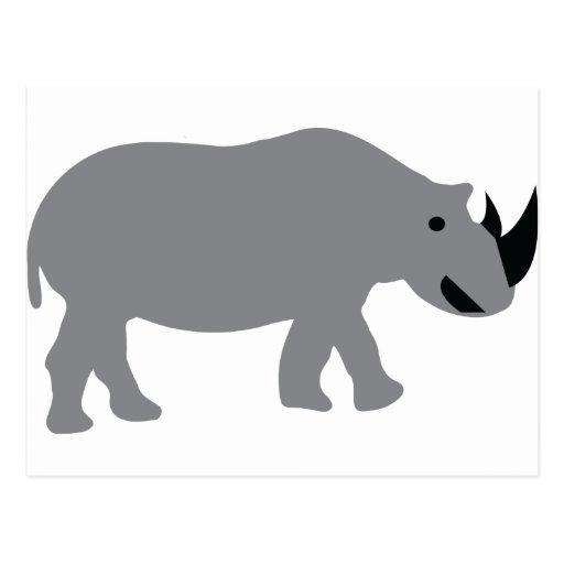 rinoceronte gris tarjetas postales
