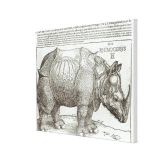 Rinoceronte, impresión dada a Maximiliano I (1459- Lona Envuelta Para Galerias