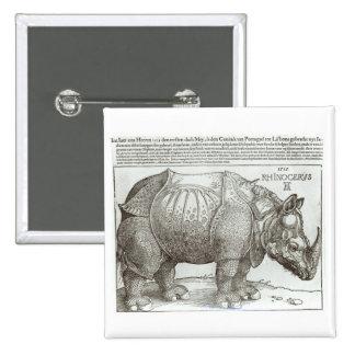 Rinoceronte, impresión dada a Maximiliano I (1459- Pin Cuadrada 5 Cm