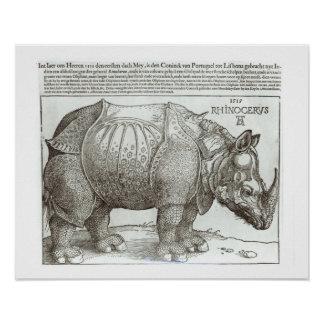 Rinoceronte, impresión dada a Maximiliano I (1459- Póster