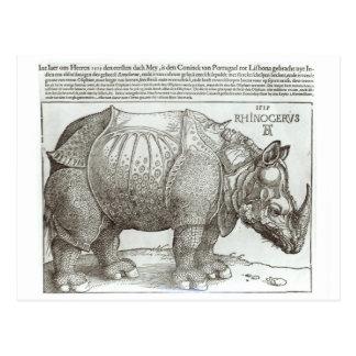 Rinoceronte, impresión dada a Maximiliano I (1459- Postales