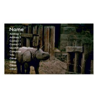 Rinoceronte indio plantillas de tarjeta de negocio