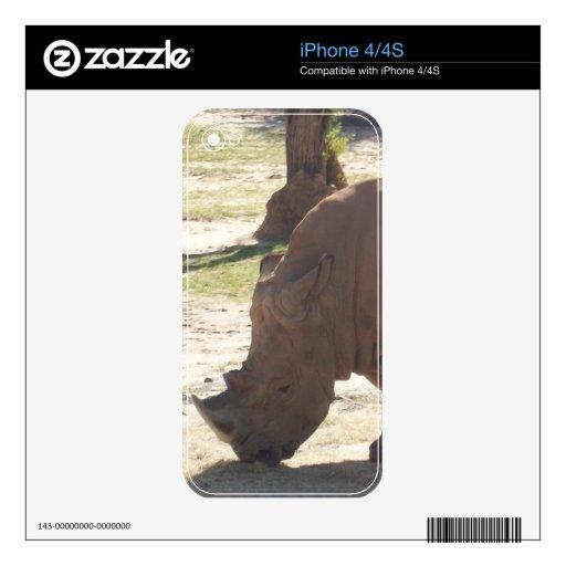 Rinoceronte iPhone 4S Calcomanía