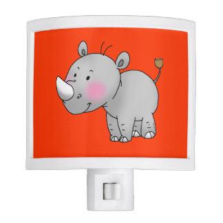 rinoceronte lindo del bebé luces de noche