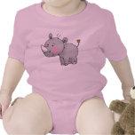 rinoceronte lindo del bebé trajes de bebé